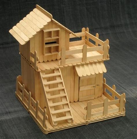 Popsicle Stick Cabin by What Can I Make Out Of Popsicle Sticks Answerbag