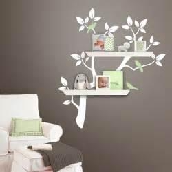 Living Room Wall Decal Tree Shelf Shelves Shelving Tree Branch Vinyl Wall Decal