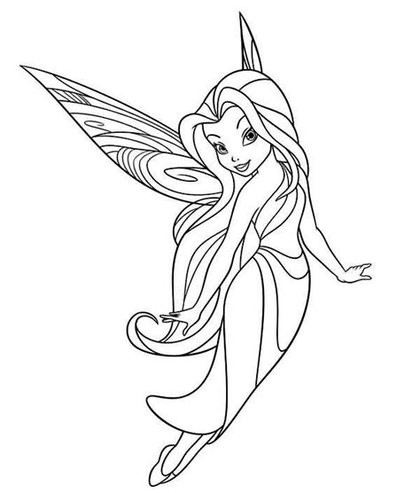 Silvermist Flying In Disney Fairies Coloring Page Silvermist Coloring Pages