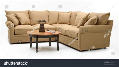 Sectional Sofa Coffee Table Stock Photo 2839911 Shutterstock Coffee Tables For Sectional Sofas