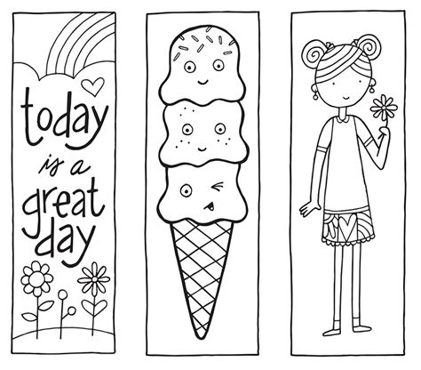 free printable bookmarks you can color printable bookmarks from http spotgirl hotcakes blogspot