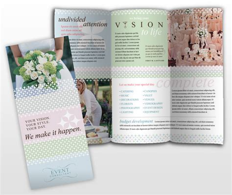 wedding brochures templates free wedding event planner business brochure templates