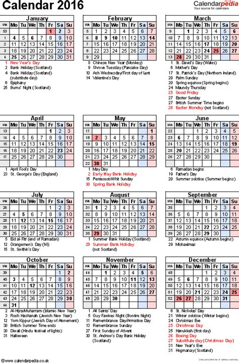 printable monthly calendar 2016 with indian holidays 2016 us calendar with holidays newhairstylesformen2014 com