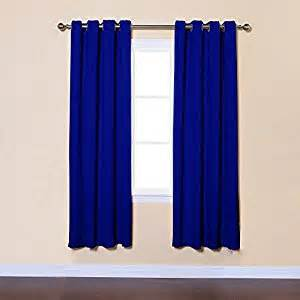 Royal Blue Blackout Curtains Royal Blue Solid Grommet Top Thermal Insulated Blackout Curtains 104 Quot W X 72 Quot L Pair Gt