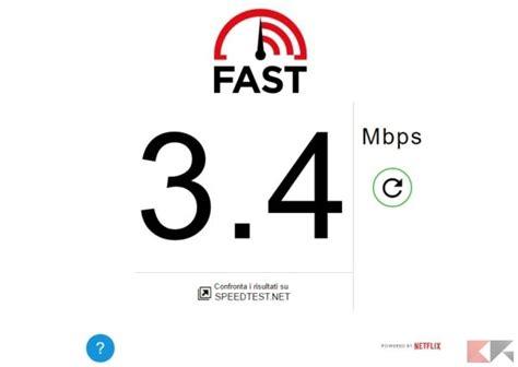 controllare velocit 224 connessione con fast di netflix