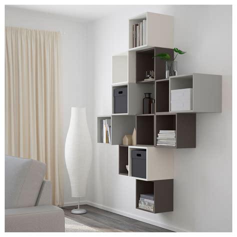 kallax vs eket купить комбинация настенных шкафов экет белый темно серый