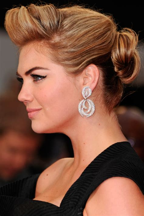 Kate Twisted by Kate Upton The 7 Hairstyles Of The Of The Updo