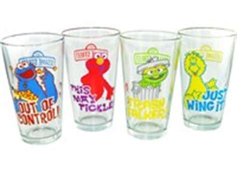 Elmo Glasses White sesame merchandise mugs cups glasses books supplies water bottles etc