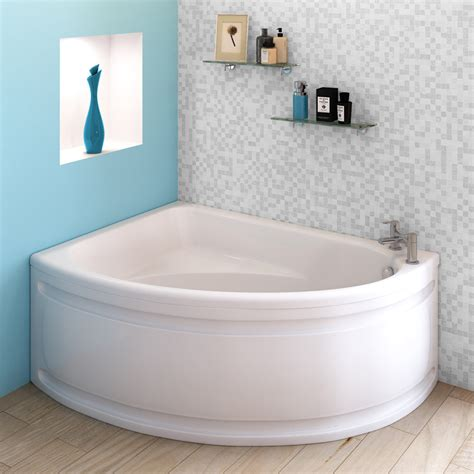 orlando corner bath with panel left option 1500 x