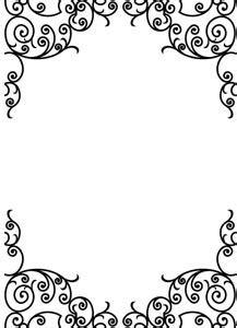 Aqua Bottom Putih vector blank floral frame design illustration free vector