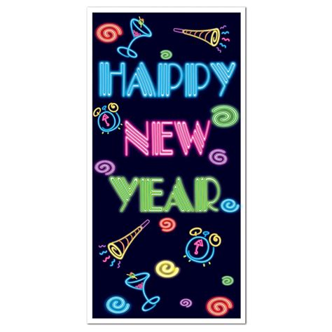 new year decorations door central club pack of 12 new years themed quot happy new
