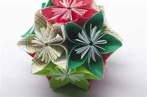 Folded Paper Ornament Pattern - folded flower ornament favecrafts