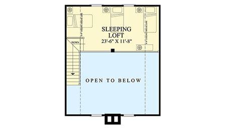 getaway floor plan charming two bedroom getaway 32624wp architectural designs house plans