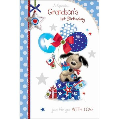 Birthday Card For Grandson 1st Birthday Birthday Cards For Children Collection Karenza Paperie