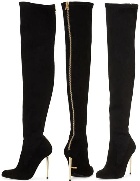 above knee boots the knee boots with zipper in back yu boots
