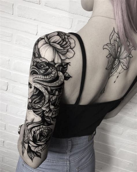 tattoo gallery for females snake woman sleeve tattoo idea snake tattoos pinterest
