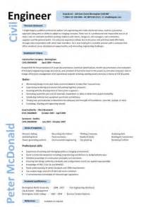Resume Example Engineering Civil Engineer Resume Template