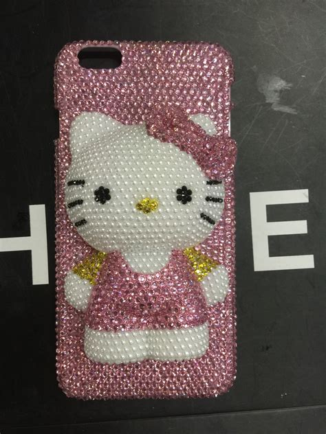 Hello Bling Bling Handmade Soft Iphone 6 6s hello iphone 6 ab swarovski pink