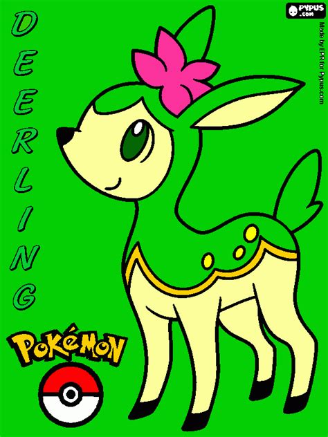 pokemon coloring pages deerling deerling coloring page printable deerling
