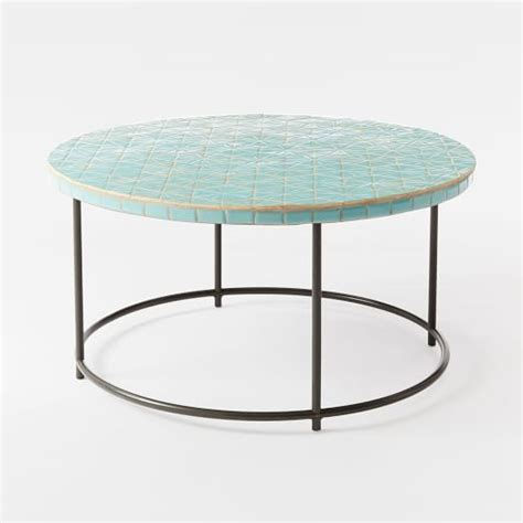 Mosaic Coffee Table by Mosaic Coffee Table Blue Spider Web West Elm
