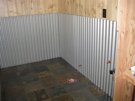 Metal Wainscoting Ideas by Bathroom Decorating With Galvanized Tin Like The Idea Of