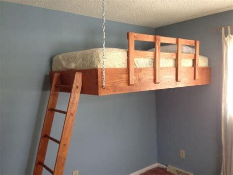floating loft bed redditor designs awesome space optimizing suspended loft
