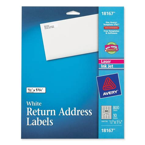 avery return label template avery return address label ld products