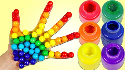 color finger finger family rhymes with rainbow paint