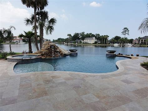 ivory swirl travertine pavers tropical patio other