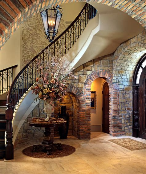 Tuscan Style Home Decor by Home Interior Design Stair Railings Interior