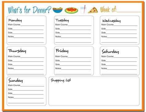 weekly meal planner printable free weekly meal planner free printable 24 7 moms