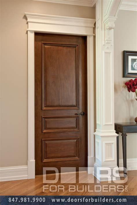 Solid Wood Interior Doors White Single Three Pane L Door With Raised Moldings Custom Wood Interior Doors Door From Doors For