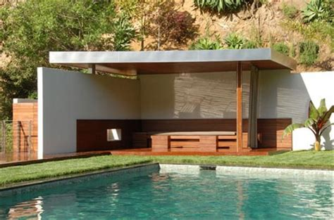 pool pavilion designs flat roof two walls and post va gazebo pinterest