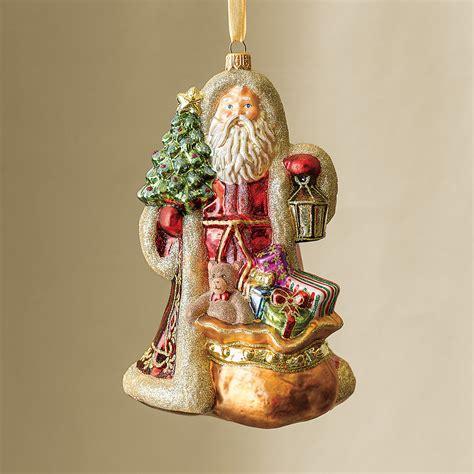 woodland santa christmas ornament gump s