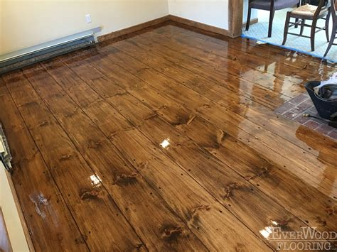 Pine Plank Flooring Everwood Flooring Project Profiles Wide Plank Pine Stain Refinish Windham Nh