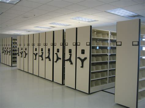 mobile shelving mobilstor rolling high density storage