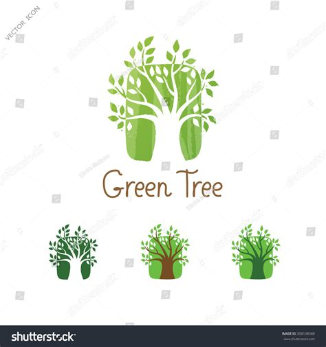 Green Tree Logo Design Template Garden Creative Concept Eco Idea Ecology Icon Stock Vector Ecology Green Icons Tree With Logo Vector Stock Vector Image 51156431