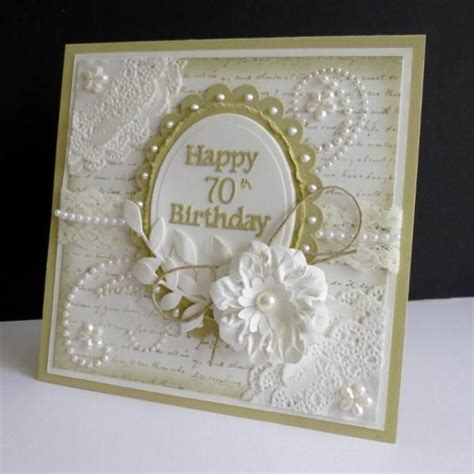 Handmade 50th Birthday Cards - shabby birthday by sistersandie cards and paper crafts