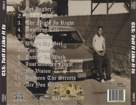life style cali life style tell it like it is cd rap music guide