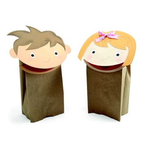 Paper Bag Puppets - shine crafts paper crafts paper bag puppets