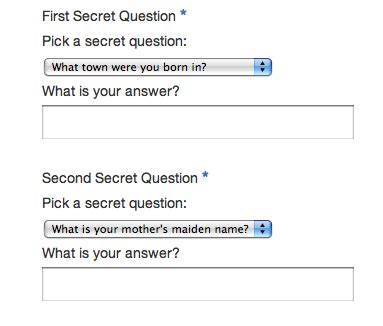 secret questions secret questions concrete5