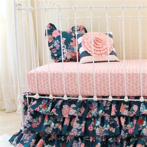 navy and pink baby bedding blush pink and navy baby bedding set lottie da baby