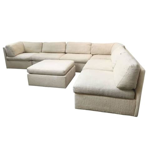 Milo Sofa by Sectional Sofa By Milo Baughman For Thayer Coggin At 1stdibs