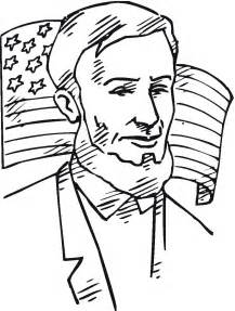 abraham lincoln coloring pages coloring page of abraham lincoln with american flag coloring