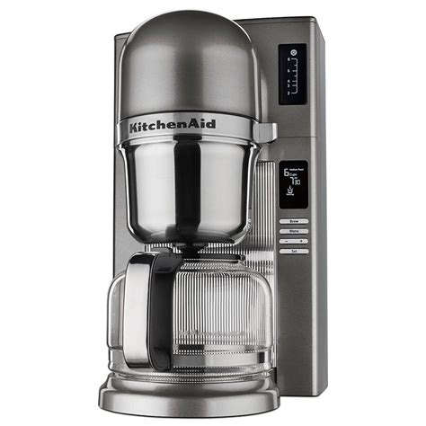KitchenAid KCM0802MS 8 Cup Pour Over Coffee Maker w/ Carafe   24 hr Programmability, Medallion