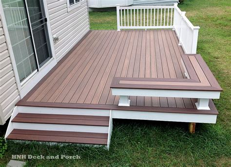 pvc decke vinyl patio deck using wolf pvc decking with amberwood