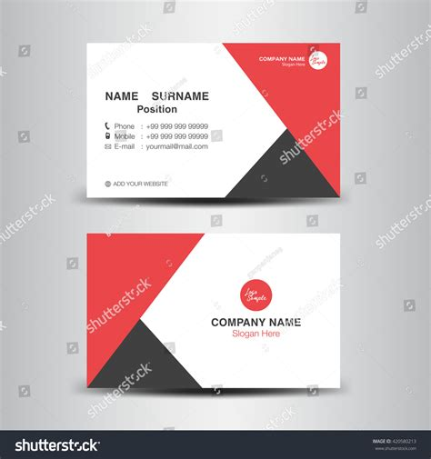 background name card red business card vector backgroundflyer designpolygon