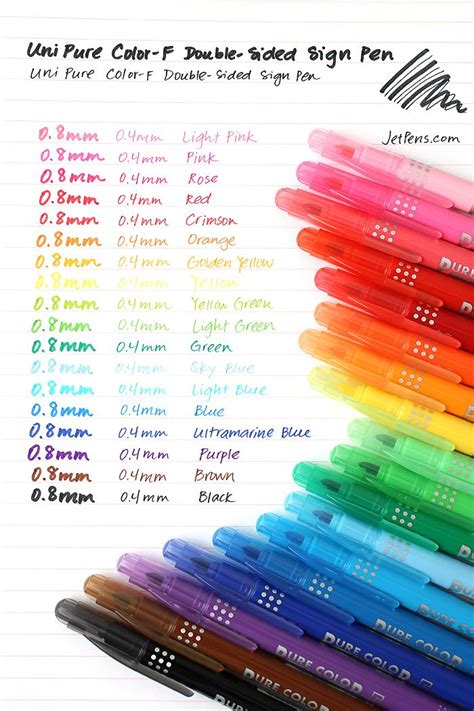 color with f uni mitsubishi color f sided sign pens http