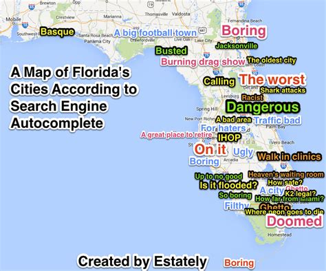 Search For In Florida The True Nature Of 30 Florida Cities According To Search