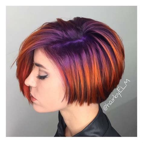 bob two tone hair color pictures for short hair 11 best images about bright colored hair roots on